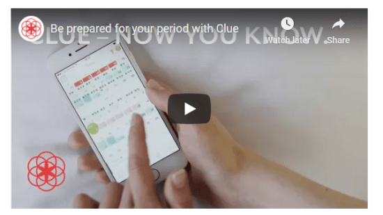 Clue Demo - be prepared for your period